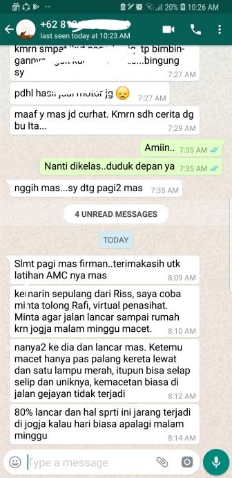 bukti sahabat virtual dengan amc