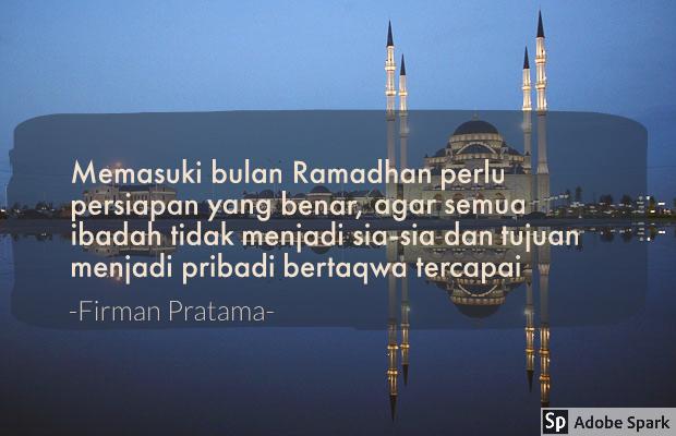 persiapan memasuki bulan ramadhan
